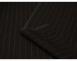 Костюмная черная в полоску В5А-00015