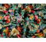 """Джинсовая набивная ткань """"Цветочное ассорти"""" 0040"""