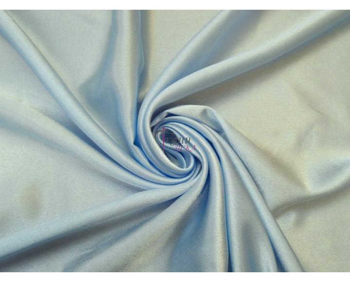 Креп-сатин нежно-голубой 0005