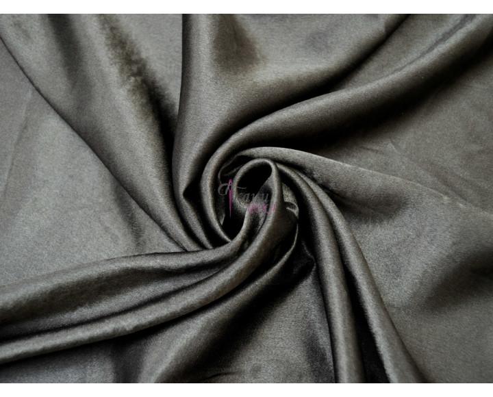 Креп-сатин черный 0012