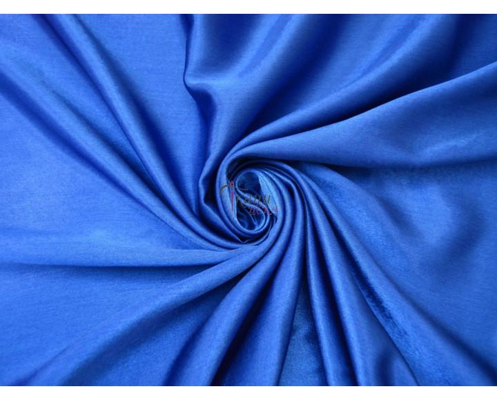 Креп-сатин синий 0014