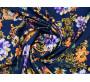 Плательная темно-синяя с цветочным принтом 00011