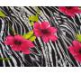 """Штапель набивной """"Розовые дикие цветы"""" 0011"""