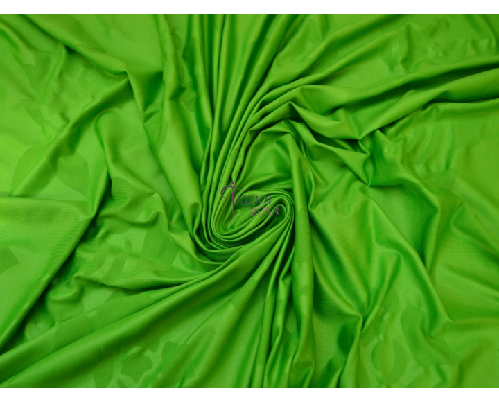 Трикотаж масло зеленый с пятнами