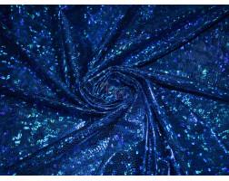 Трикотаж диско синий 0026