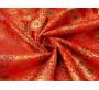 """Китайский шелк """"Орнамент на красном"""" 0016"""