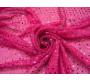 Сетка с пайетками розовая 0008