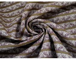 Хлопок фиолетовый орнамент 0047