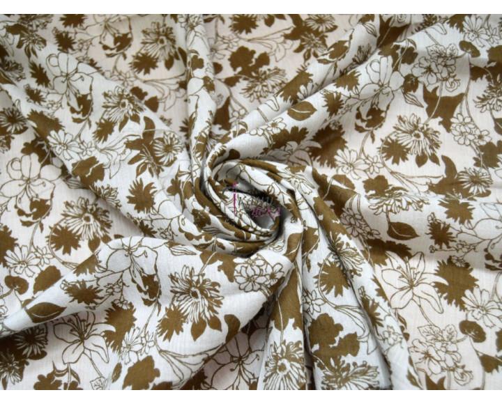 Штапель коричневые лилии