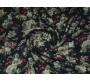 Хлопок темно-синий с цветочным принтом 0095