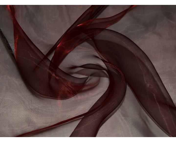 """Органза """"Тёмно-красная"""" 0025"""
