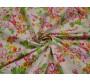 """Джинсовая набивная """"Сочные цветы"""" 0055"""