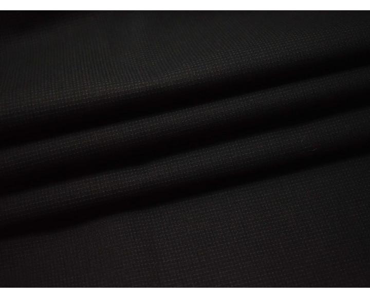 Курточная черная фактурная в клетку