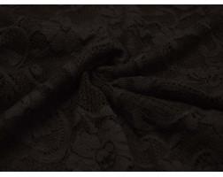 Гипюр Темно-коричневые Цветы 00059