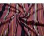 Штапель бордовый цветная полоска 00026
