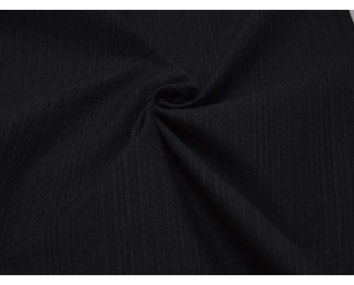 Ткань Костюмная Полосатая Серо-синяя 00057