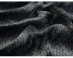 Мех искусственный норка черно-серый