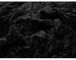 Мех искусственный норка черного цвета
