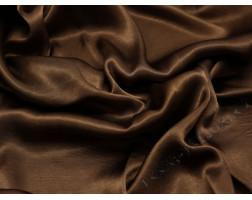 Атласная ткань коричневая