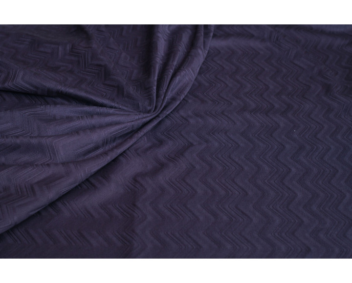"Трикотаж ""Тёмно-лиловый зигзаг"" д5а-00023"