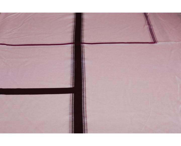 """Трикотаж набивной """"Розово-черный"""" Г5в-00009"""