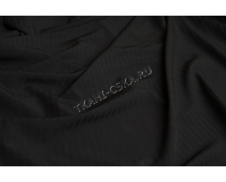 Костюмная набивная Чёрная в полоску Е4а-00041