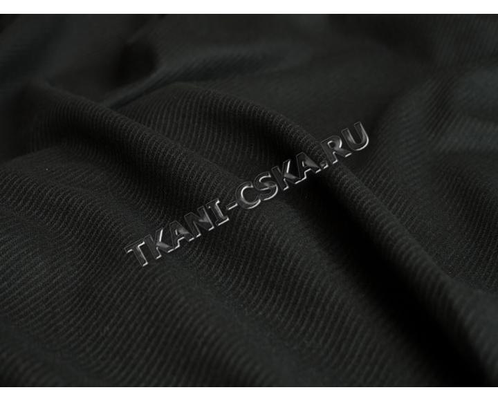 Пальтовая Чёрная фактурная полоска  Б3б-00022
