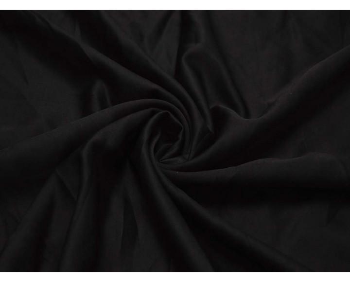 Плательная однотонная Черная 00014