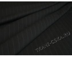 Костюмная набивная Тёмно-синяя в полоску  Е2а-00028