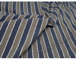 Рубашечная  Бежево-синяя полоска