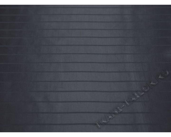 Подкладочная ткань гладкая серого цвета в полоску
