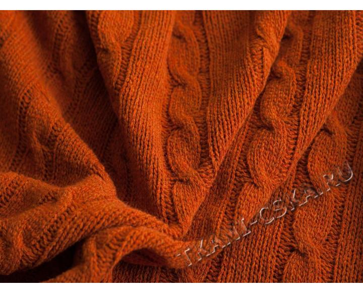 Вязаный трикотаж Оранжевый