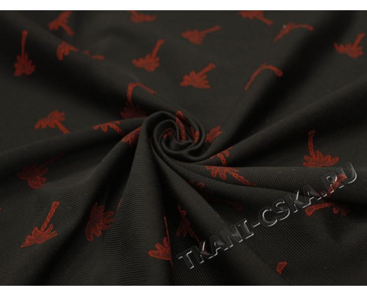 Костюмная черная с красным Пальмы