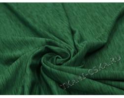 Трикотаж зелёный меланж