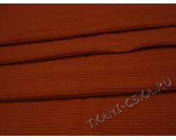 Трикотаж в рубчик оранжевый