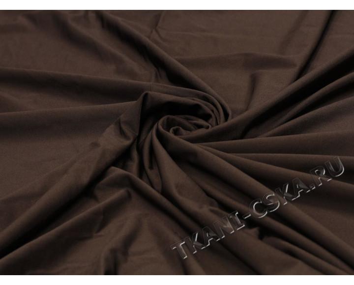 Трикотаж однотонный коричневый