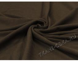 Трикотаж фактурный коричневый