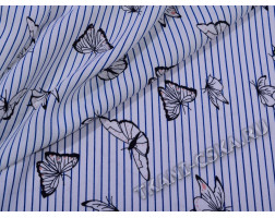 Плательная Бабочки и полосы