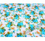 Хлопок цвета айвори с цветочным узором