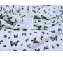 Плательная белая Бабочки