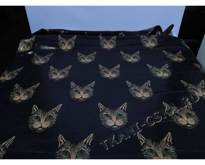 Курточная чёрно-оранжевая Зеленоглазые кошки