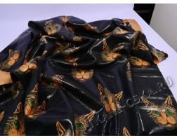 Курточная чёрно-оранжевая принт кошки