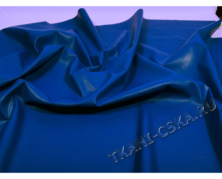 Кожзаменитель сине-голубой