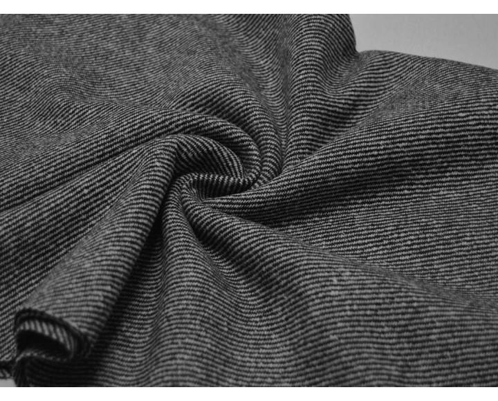 Ткань Костюмная Черно-белые Полосы 40% шерсть 60% полиэстер 00055