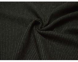 Костюмная ткань В Темно-зеленую Полоску 00008