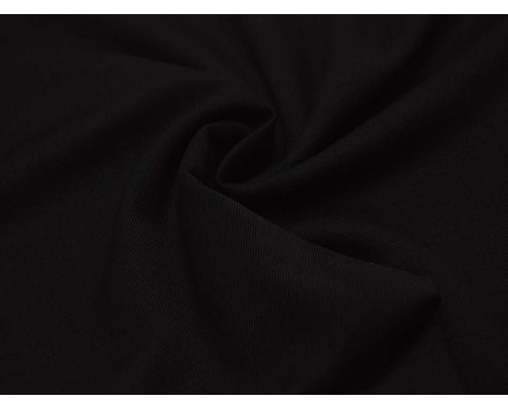 Ткань Костюмная Черная 70% полиэстер 30% хлопок 00014
