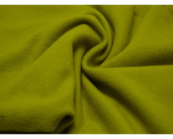 Пальтовая ткань салатовая 00045