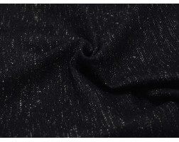 Пальтовая ткань черная в белую крапинку 00051