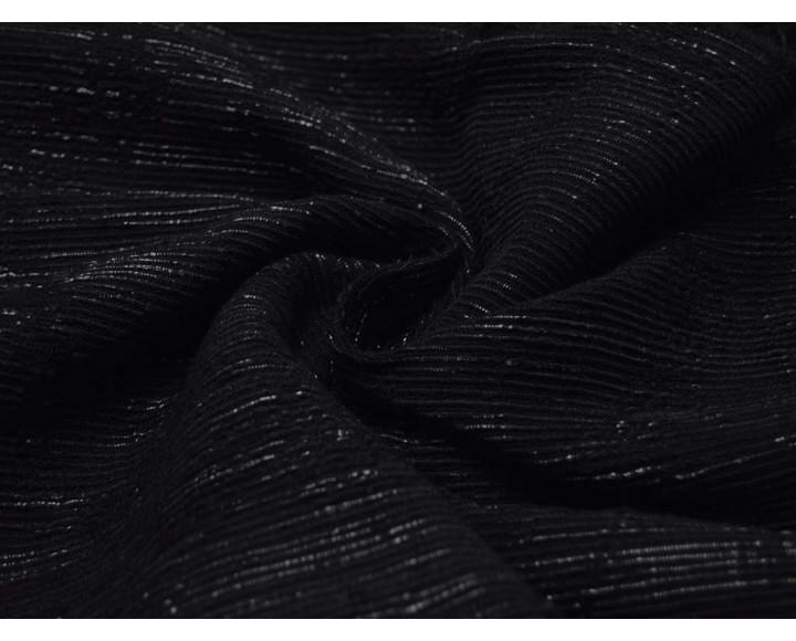 Костюмная ткань Черная С Люрексом 00019