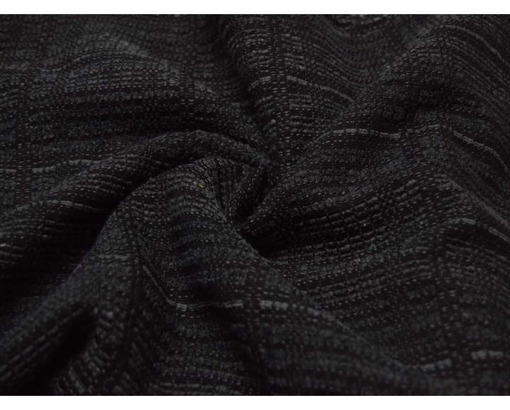 Костюмная ткань Клетка Черно-Серая 00021